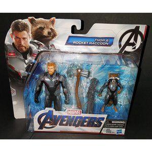 NEW Marvel Avengers Thor & Rocket Raccoon Figures